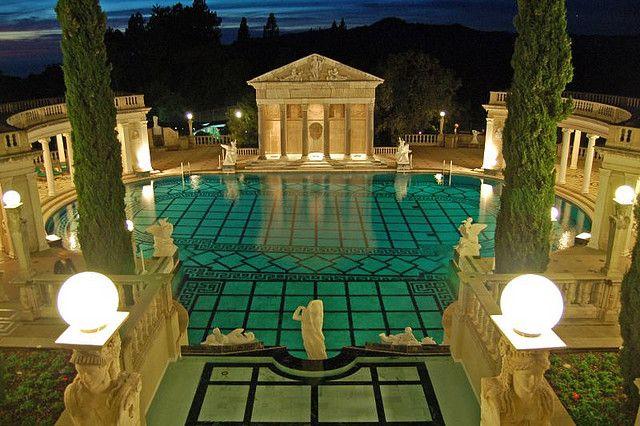 Hearst Castle Neptune Pool Of William Hearst San Simeon California Billionairess Club