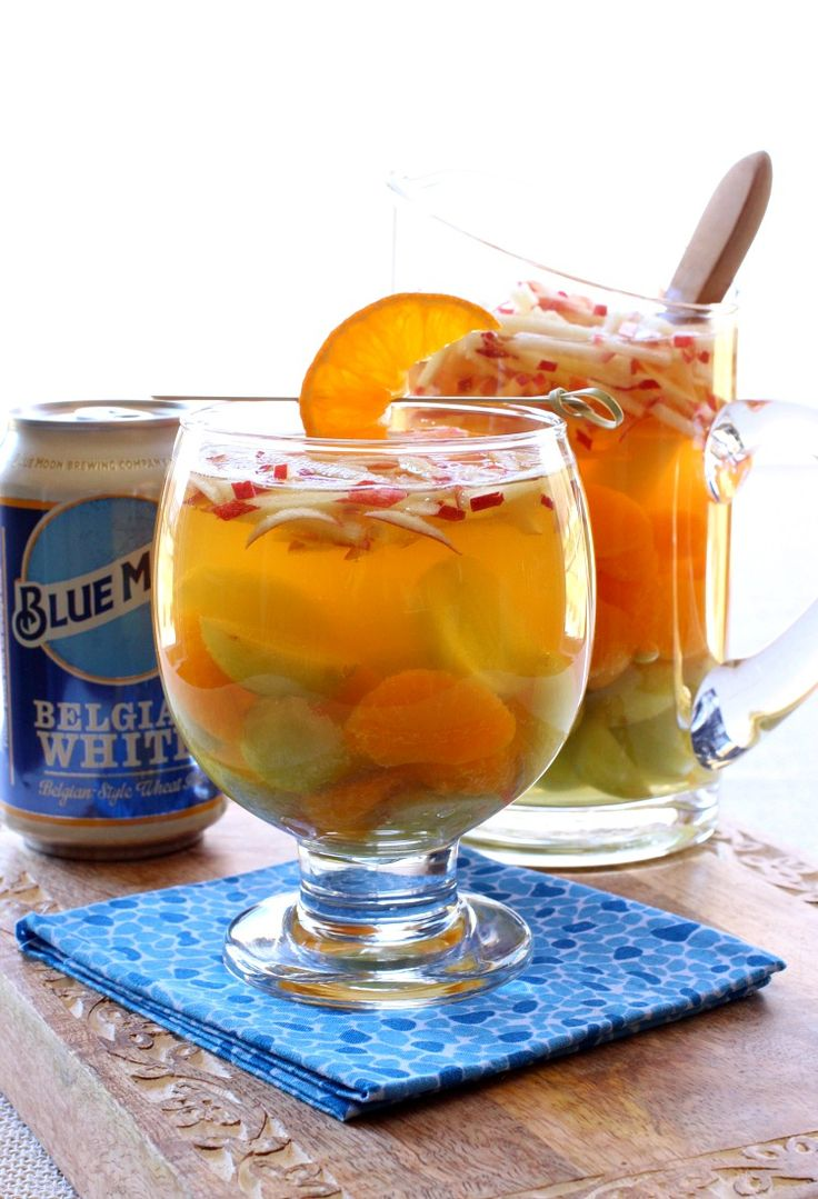 This Blue Moon Sangria is the perfect cocktail for winter or summer!