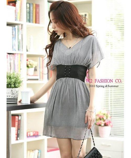 Women Black Korean Fashion Hot Sale Chiffon Dress