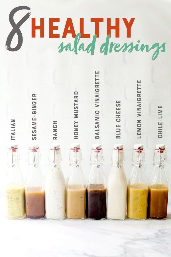 8 gesunde Salatdressing-Rezepte für zu Hause – Essen & Rezepte   – Salat