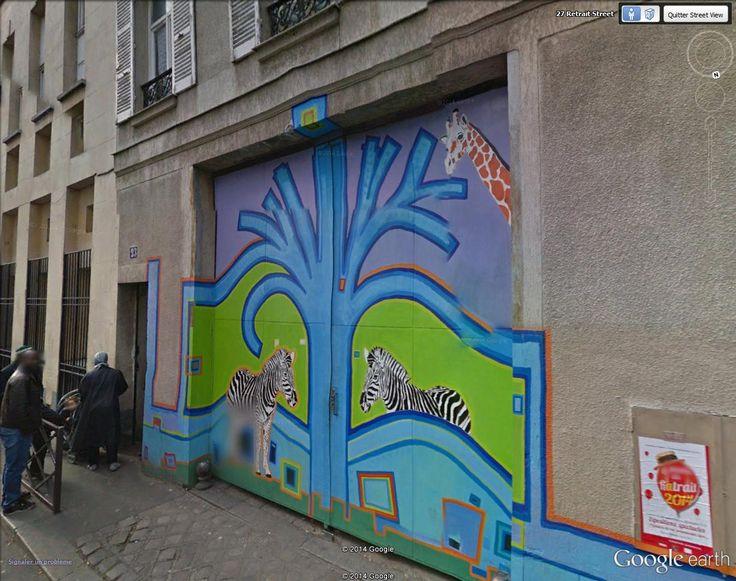 "Rue du Retrait, Paris  48°52'7.33""N  2°23'38.81""E Street Art on Google Street View"