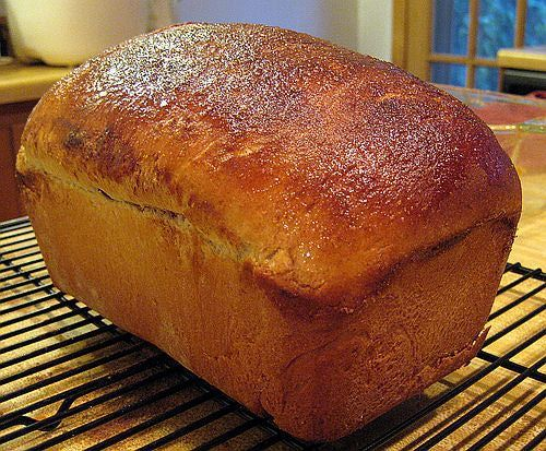 This bread is similar to Christmas bread without the poppyseed topping. It's served on Easter morning along with colored hard-cooked eggs which everyone knocks together to see whose is the strongest.