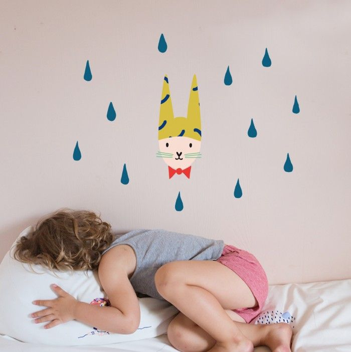 Wallsticker kids Lapin fripon | Mimi lou