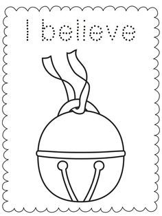 I Believe Bell-Polar Express-Coloring Sheet