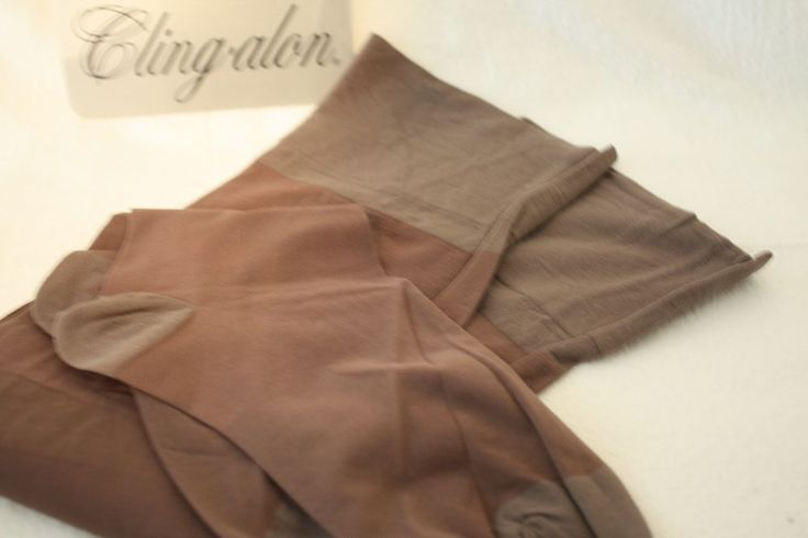 Cling Alon Support Stockings Extra TALL Taupe 10 1/2-12 Reinforced Heel and Toe #ClingAlon #Stockings