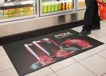 Step up your branding efforts by using the Floor Impression Custom Logo Mat. These beautifully customized Floor mats can be used to promote and leave a lasting impression in point of purchase programs, food and beverage displays, at events and trade shows and as product advertisements.