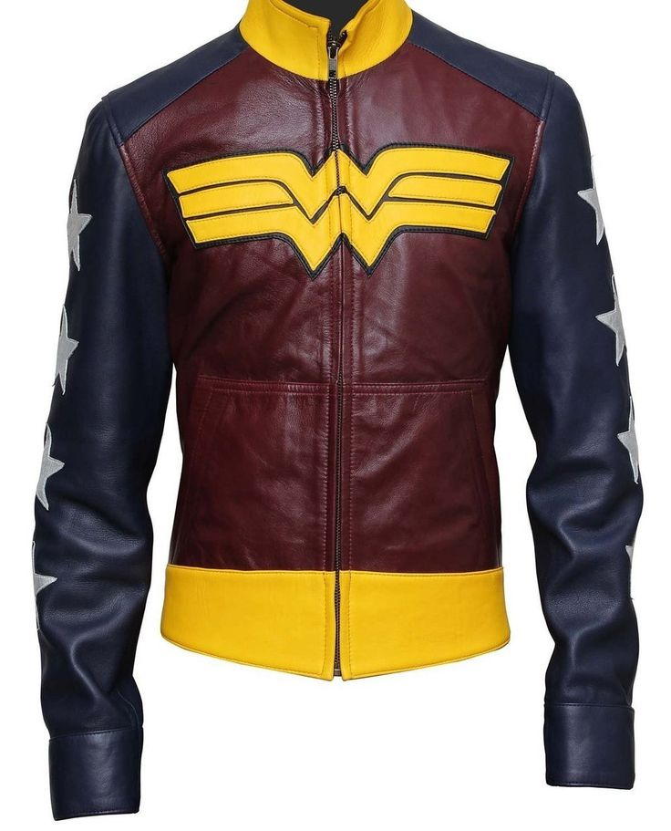 Wonder Woman Movie Leather Jacket  | http://www.bikerleatherjacketus.com/product/suicide-squad-jared-leto-joker-leather-coat-crocodile-texture-copy/