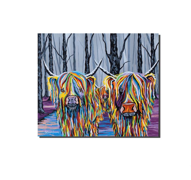 Jean & Bob McCoo and the Bairn - Original Artwork - Steven Brown Art