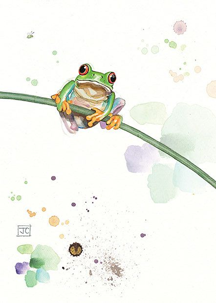Tree Frog - Design by Jane Crowther - Bug Art greeting cards