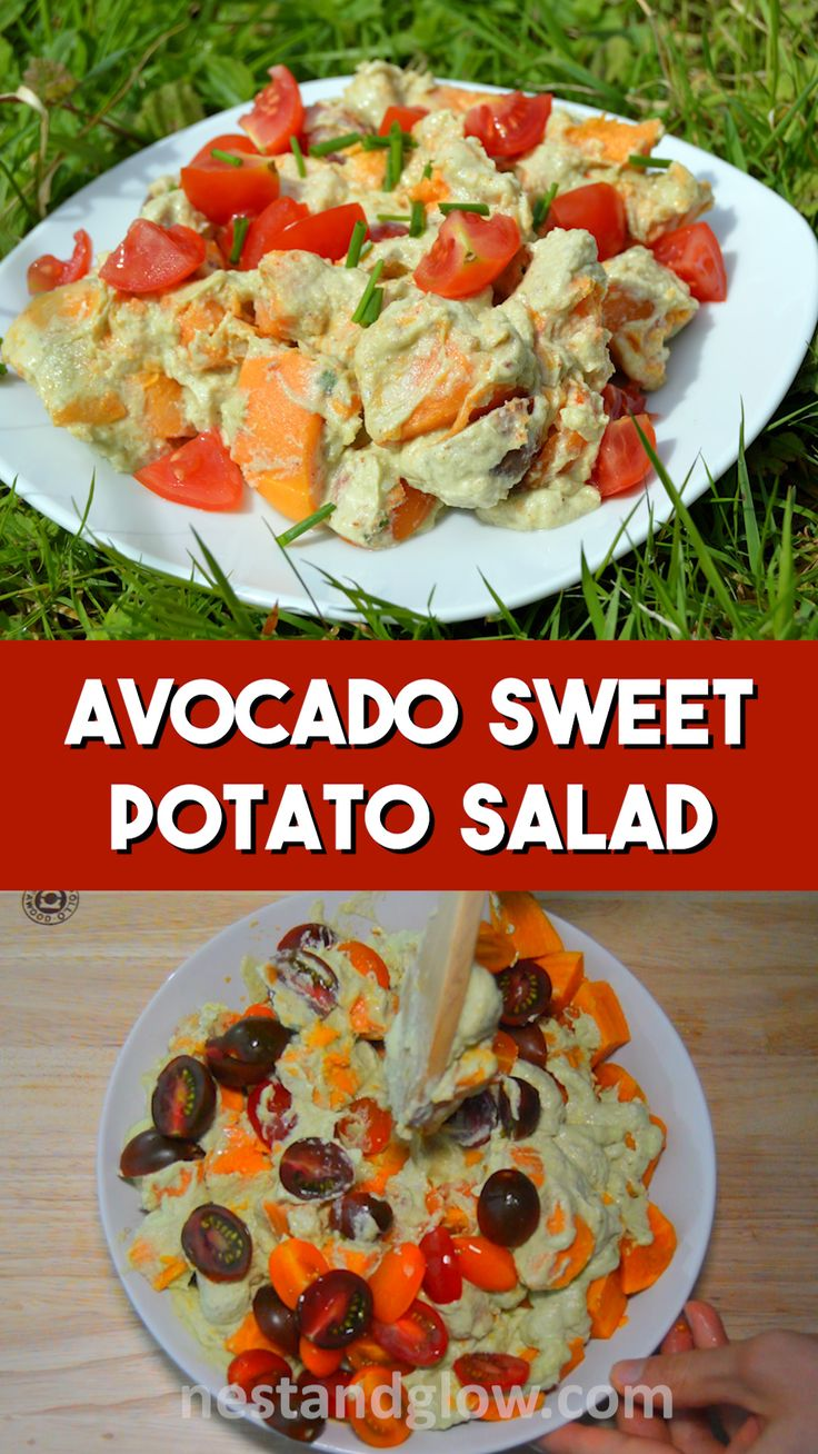 Avocado sweet potato salad easy and healthy recipe that