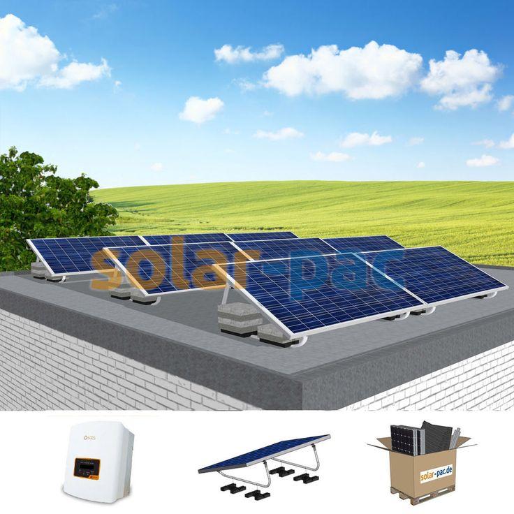 Komplette Solaranlage Mit 2 40 Kwp Pv Leistung Fur Flachdach Garage Carport Ebay Flachdach Solaranlage Solar