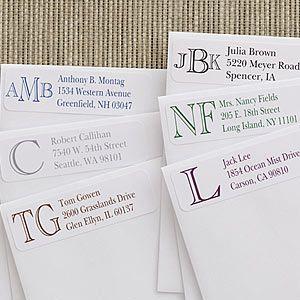 Academy Monogram Return Address Labels