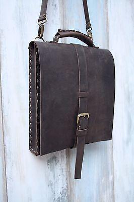 Genuine Leather Messenger Bag, Unique Design Handmade Leather Shoulder Bag