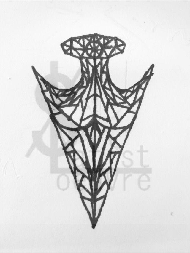 Geometric arrow head tattoo design by Slate Pulcherrimi