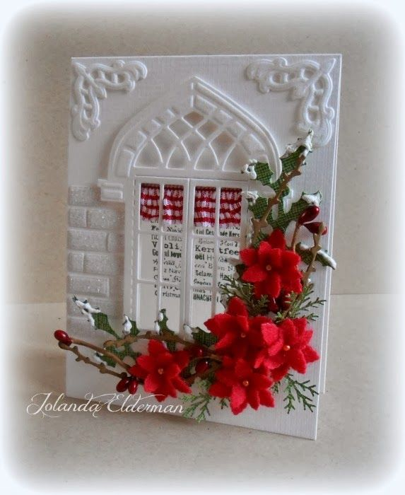 Jolanda's Crea-Blogg - I really like how she used the cut outs from the window to make bricks and then added glitter to them.  Very clever.