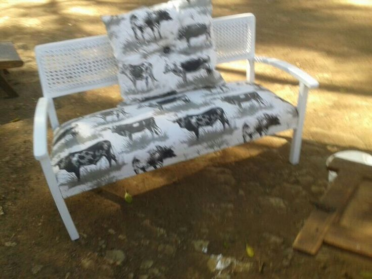 Late 1800s this is a fully sprung horse hair couch newly recovered at Hey Judes in Nguni fabric! R1900