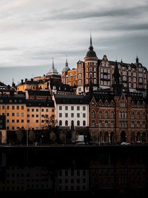 Picture of houses in Stockholm, Mariaberget. Available as poster at printler.com, the marketplace for photo art. Photographer Henrik Andersson.