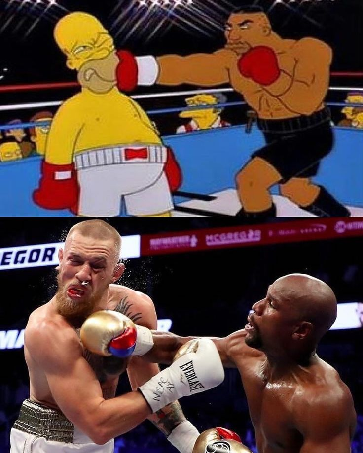 The Simpsons did it again! Follow @9gag #9gag #mayweather#mcgregor#ufc#thesimpsons