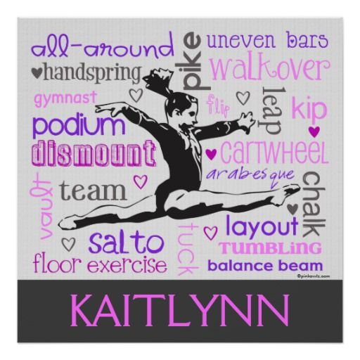 Gymnastics Leaps and Bounds Poster
