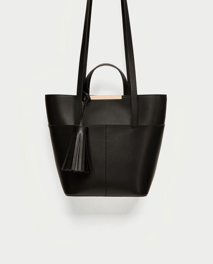 Shopper média (preto): ZARA (22,95€)