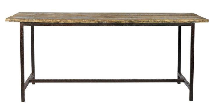 JENNY, Esstisch Holz-Metall Industrie vintage , Tisch Altholz-Eisen vintage Look