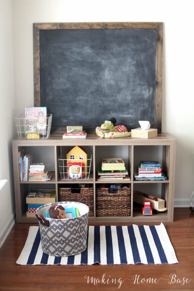 25 best ideas about toy shelves on pinterest toy for Living room toy storage