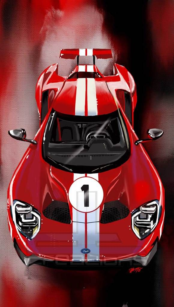 Overhead Ford Gt Heritage Edition Print Ford Gt Super Cars