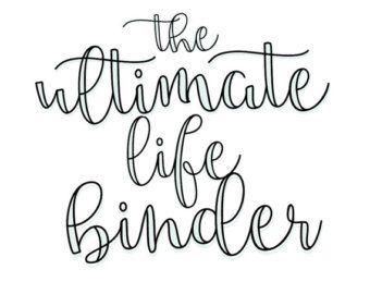 Ultimate Life Binder Planner Budget Blog by SecretOwlSociety