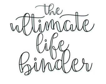 Ultimate Life Binder Planner Budget Blog by SecretOwlSociety