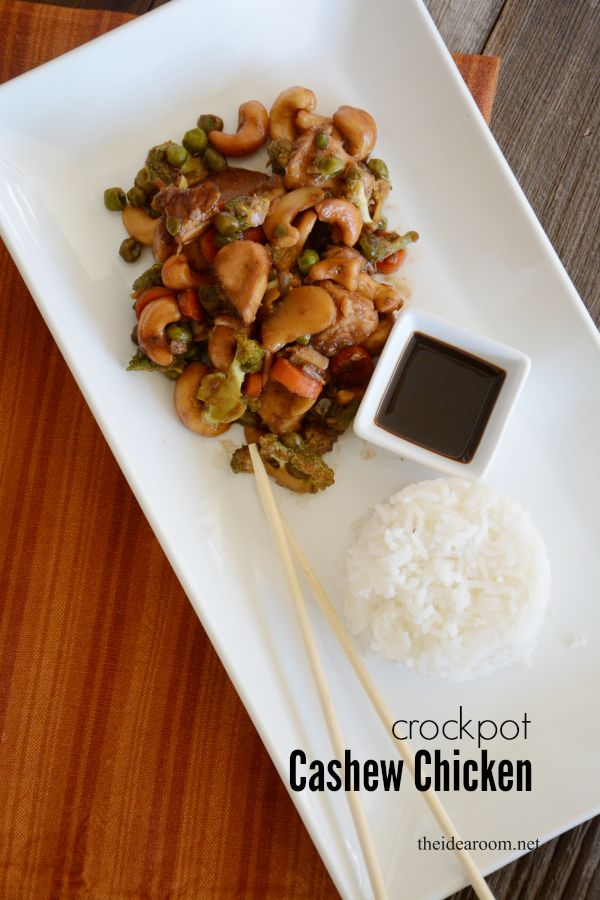 Crock Pot Chicken Cashew | Weekly Menu Plan #17 - I love having family dinner each night but when I don't plan ahead we end up grabbing take out or eating on our own. I feel so much better feeding my family as many home-cooked meals as our schedule allows!