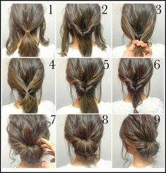 Messy Low Bun Frisuren für Damen. | Einfache Fris…