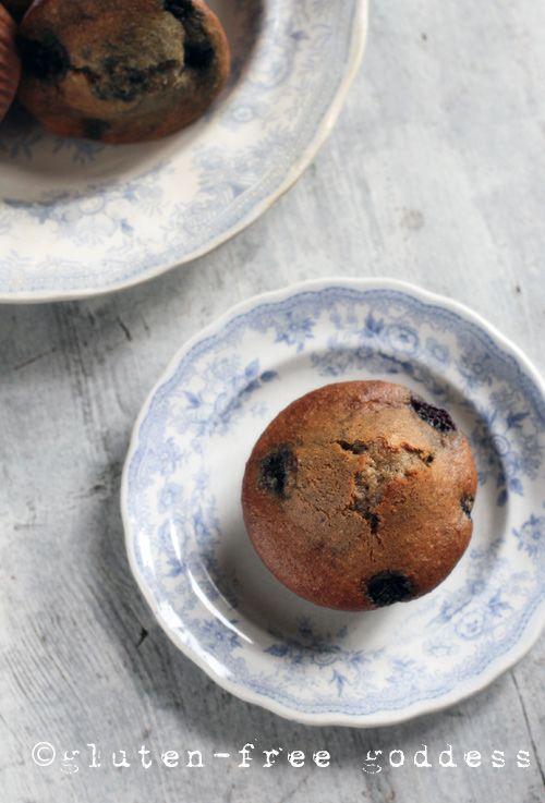 *Minus the sugar* Gluten-Free Blueberry Flax Muffins @ Gluten-Free Goddess #glutenfree #muffins