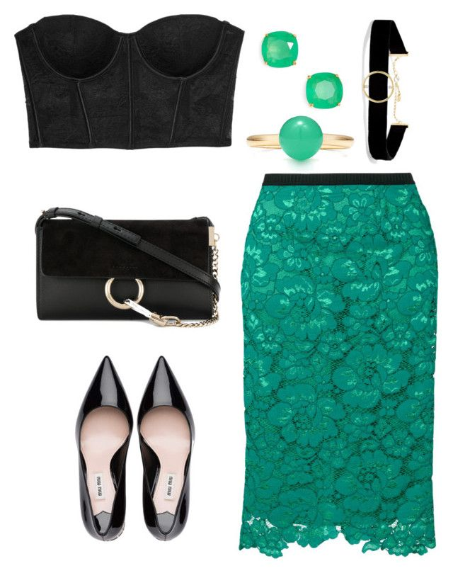 """""""arielle"""" by eboony800 ❤ liked on Polyvore featuring Fleur du Mal, Antonio Marras, Chloé, Kate Spade and Anissa Kermiche"""