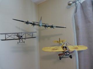 Twice as Nice: Vintage Airplane Nursery