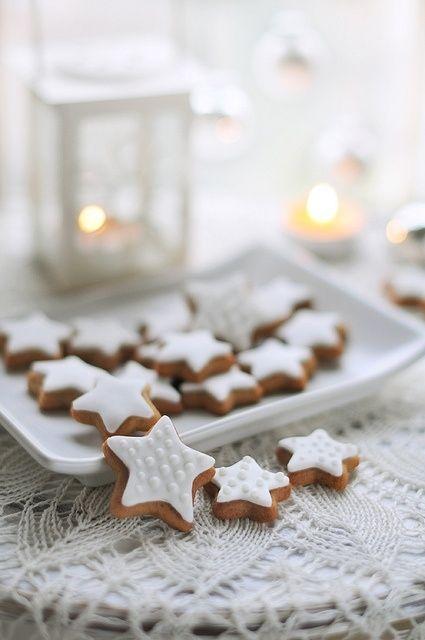 ☆ White Christmas Wonderland ☆ Star cookies