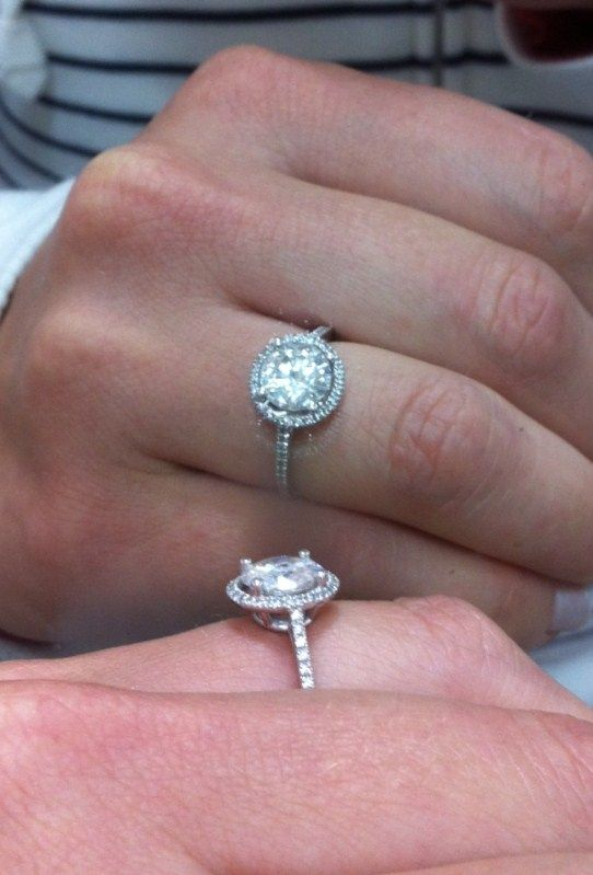 My Beautiful Petite Halo Wedding 8mm 8mm Size 5 Amora Halo Moissanite Petite Halo Round Side