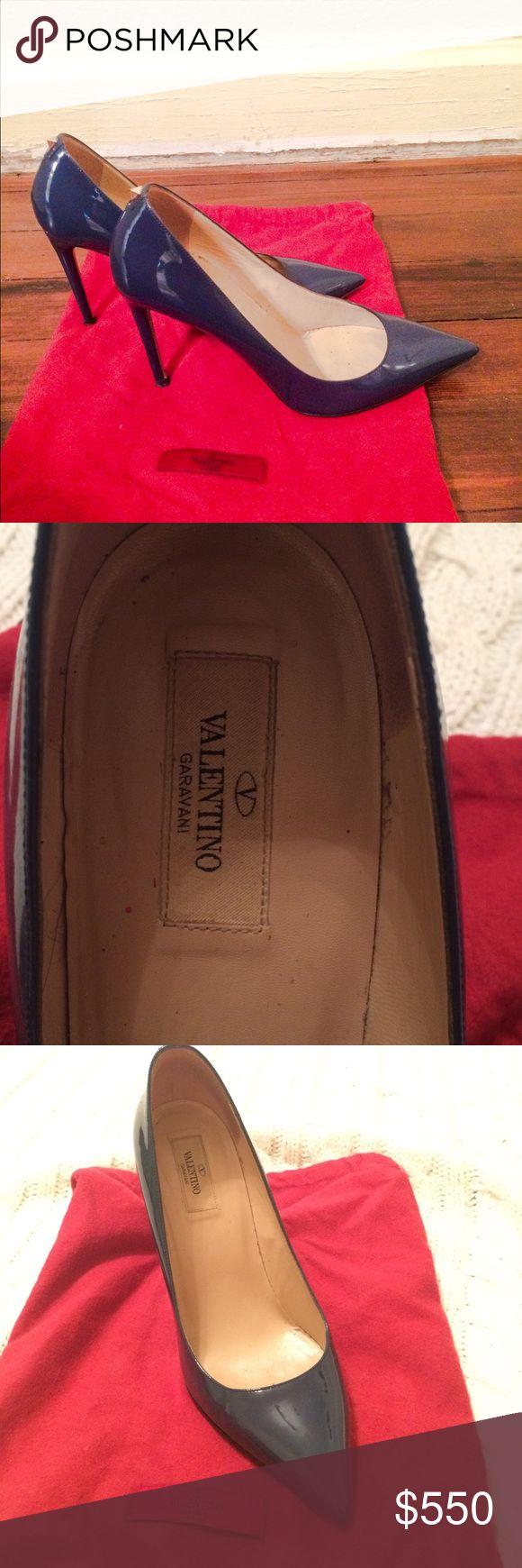 Original Valentino heels Beautiful navy blue heels in very good condition. Original price $800. Valentino Shoes Heels