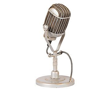 Adorno Microfone Redondox - 26cm