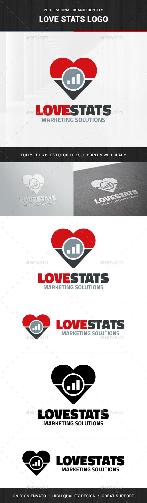 Love Stats Logo Template