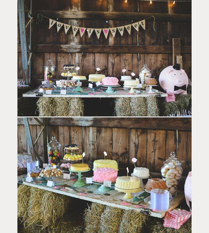 25 Sweet And Romantic Rustic Barn Wedding Decoration Ideas: 1000+ Images About Sweet Tables & Cake Table Displays On