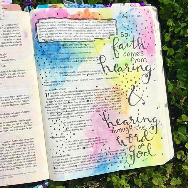 Bible Journaling by Kayla @kaylas_painted_faith | Romans 10:14-17