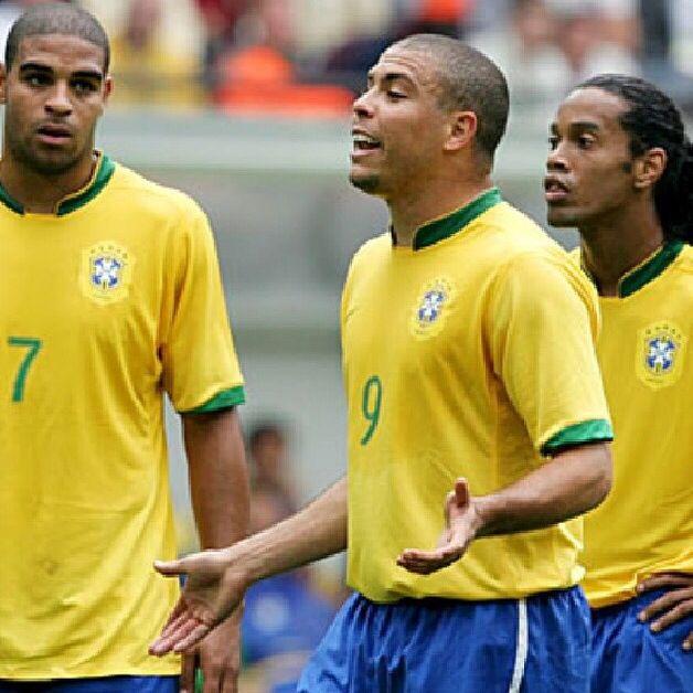 Brazil national football team  Ronaldo Adriano  and Ronaldinho