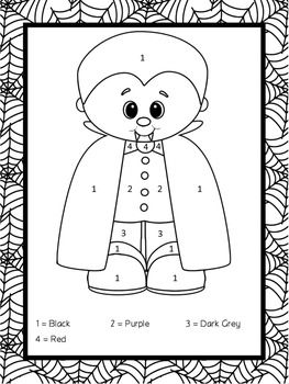 17 best images about kindergarten color by numbers on pinterest halloween coloring sheets. Black Bedroom Furniture Sets. Home Design Ideas