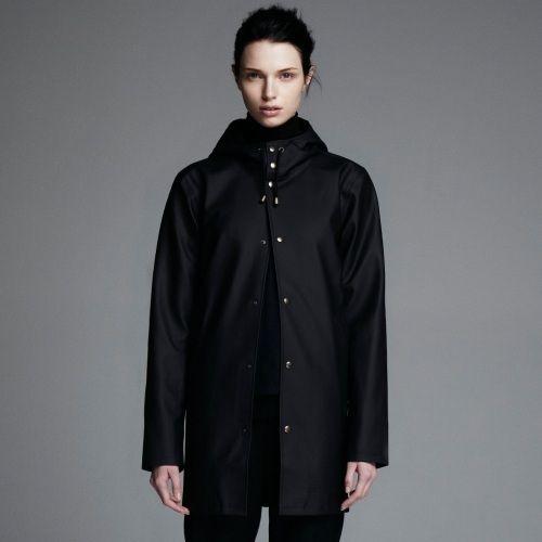 stutterheim, arholma, raincoat, black, unisex, stockholm, sweden, online