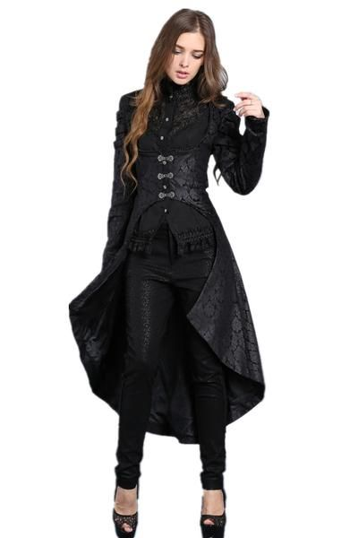 01e89135d5aa JW091 Gothic floor-length cocktail gown jacket coat in 2019 ...