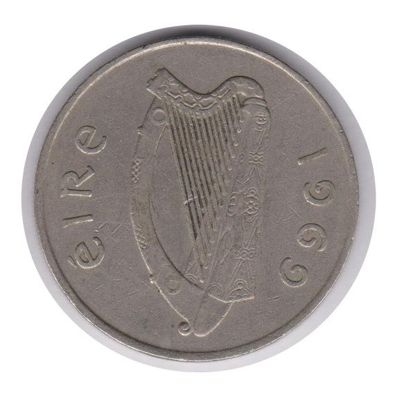 Irish 10 Pence 1969 Coin Code:JMC1865 by COINSnCARDS on Etsy