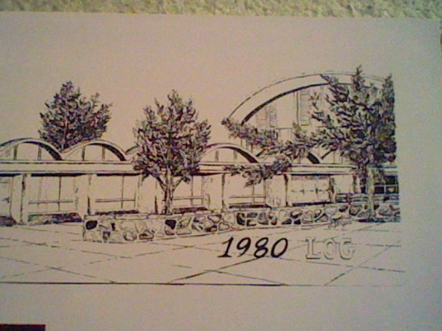 1980 Yearbook cover sketch of Lincoln Park High School by Debbie Vergari from Lincoln Park, Michigan. Courtesy of Frank Vergari Family.