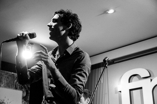 Mika performing at fnac in Milan November 29, 2012
