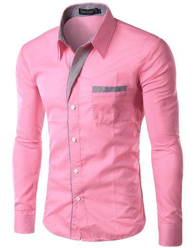 Dress Fashion Quality Long Sleeve Shirt Men Design,Formal Casual Male Dress Shirt.13 colors.M-XXXXL