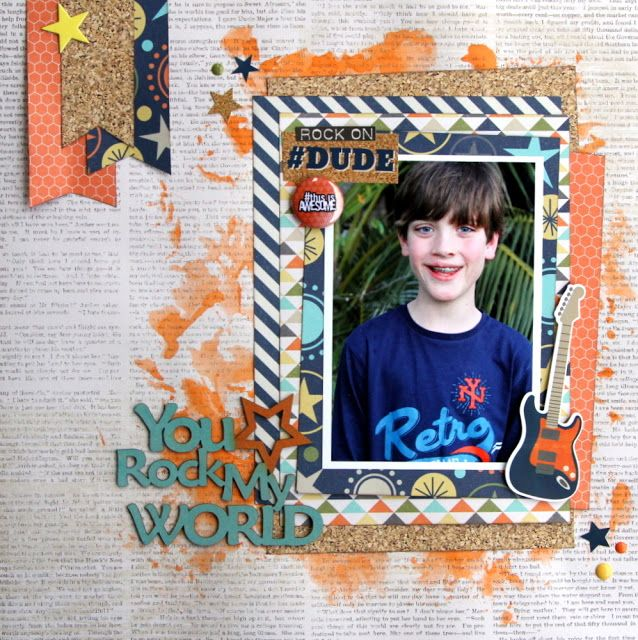 All About Scrapbooks - Simple Stories So Rad - You Rock my World by Fiona Johnstone
